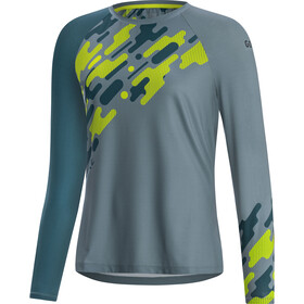 GORE WEAR C5 Trail Long Sleeve Jersey Women nordic blue/citrus green
